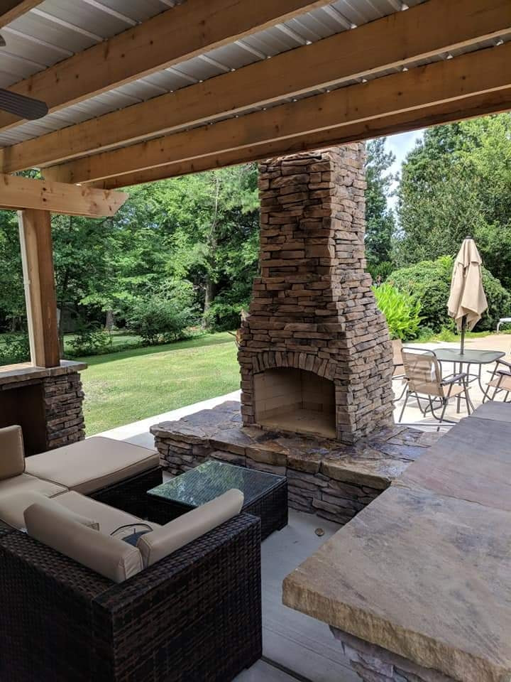 Stone Fireplace Contractor - Primarily Ponds - Huntsville, Madison, Alabama (AL)